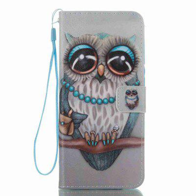 Buy COLORMIX Gray Owl Painted PU Phone Case for Samsung Galaxy S8 Plus for $5.19 in GearBest store