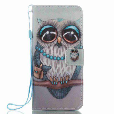 Buy COLORMIX Gray Owl Painted PU Phone Case for Samsung Galaxy S8 for $5.07 in GearBest store