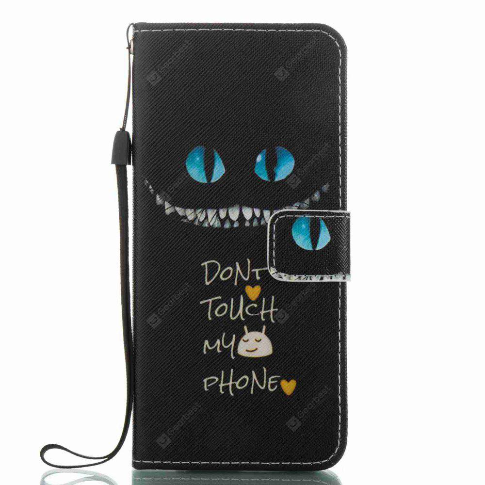 Blue Eyes Painted PU Phone Case for Samsung Galaxy S8