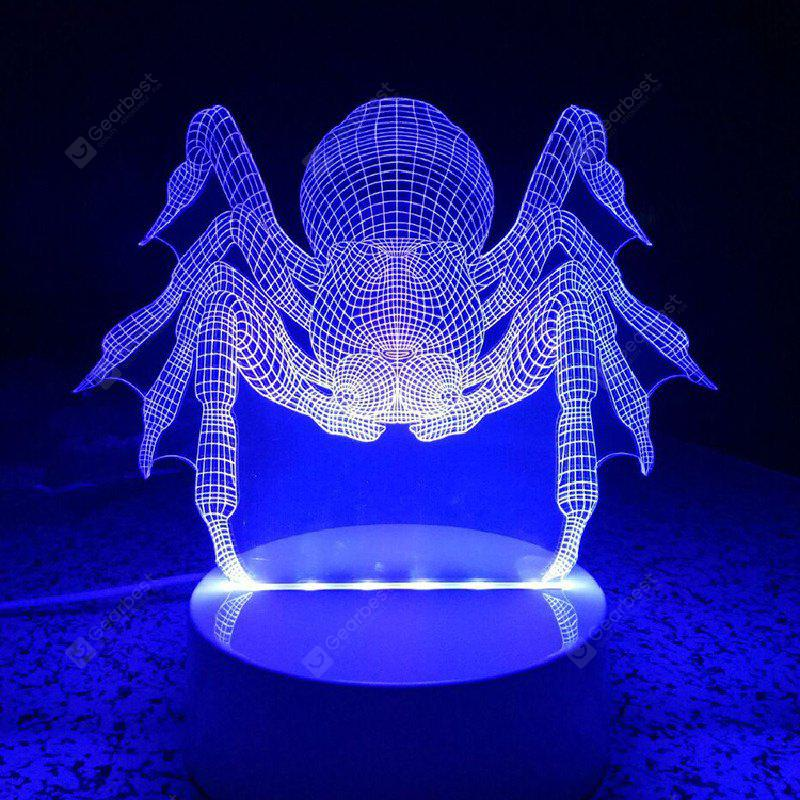 Spider Remote Control Acrylicnight Light 3D LED Table Desk Lamp
