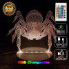 Spider Remote Control Acrylicnight Light 3D LED Table Desk Lamp - RGB