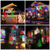 Supli Outdoor Christmas Projector Lights Multicolor Rotating Led Light Projection Waterproof Snowflake Spotlight-10pcs Pattern - COLORFUL