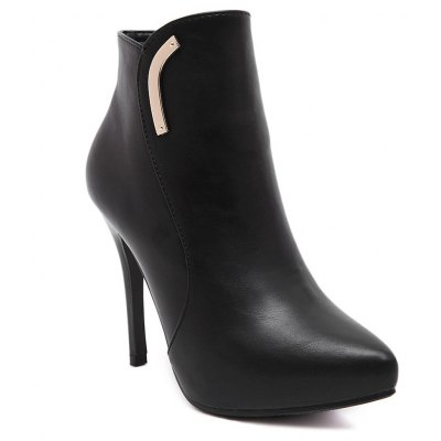 Women's Ankle Boots Thin High-heeled Boots Pointed Toe Booties