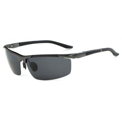Buy GUN METAL FRAME + GREY LENS TOMYE 8530 Sports Polarized Lens for Men and Women High-Definition Outdoor Cycling Sunglasses for $13.15 in GearBest store