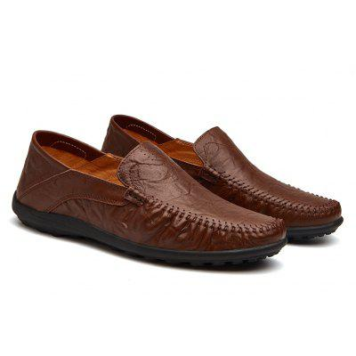 Leather Casual Leather Shoes, Men'S Soft Bottom Leisure Shoes