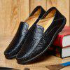 Leather Casual Leather Shoes, Men'S Soft Bottom Leisure Shoes - BLACK