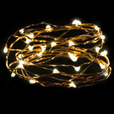 Buy WARM WHITE LIGHT AY hq217 2M 20 LED Copper Wire Light for Christmas Tree Decoration for $3.46 in GearBest store