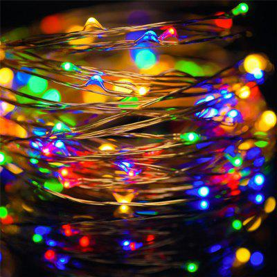 AY - hq219 10M 100 LED Copper String Lights with USB for Festival Decoration