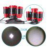 U`King Zq-X843 4000LM Xml-T6 Rechargeable 4 Mode Zoomable 5 Led Bulb Headlamp - BLACK AND RED