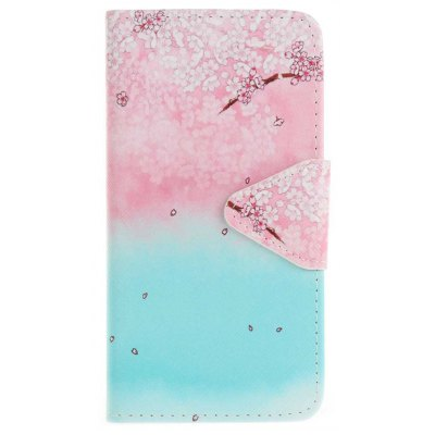Buy PINKISH BLUE Triangle Button Painted PU Phone Case for Samsung Galaxy S7 Edge for $5.15 in GearBest store