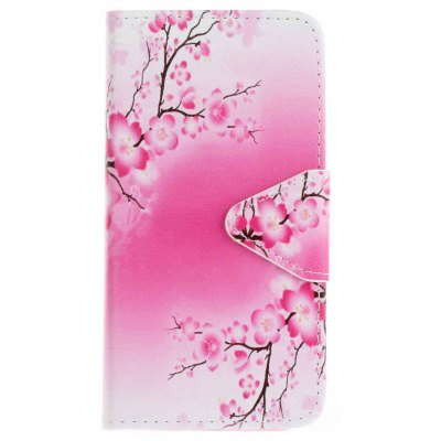 Buy PINK AND WHITE Triangle Button Painted PU Phone Case for Samsung Galaxy S7 Edge for $5.15 in GearBest store