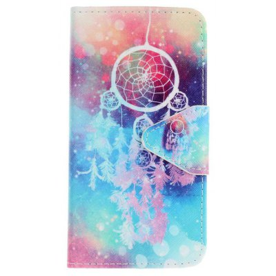 Triangle Button Painted PU Phone Case for Samsung Galaxy S7 Edge