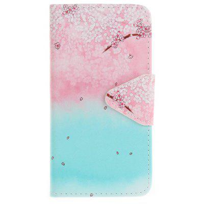 Buy PINKISH BLUE Triangle Button Painted PU Phone Case for Samsung Galaxy J5 2015 for $5.05 in GearBest store