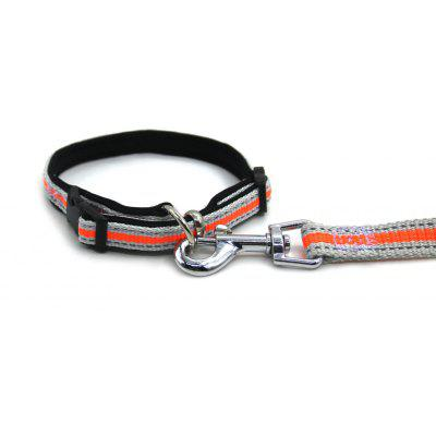 Buy ORANGE L Lovoyager LVHA165164 Reflective Fluorescent Pet Dog Adjustable Collar Leash Soft Elastic Leashes For Running Jogging Walking for $10.73 in GearBest store