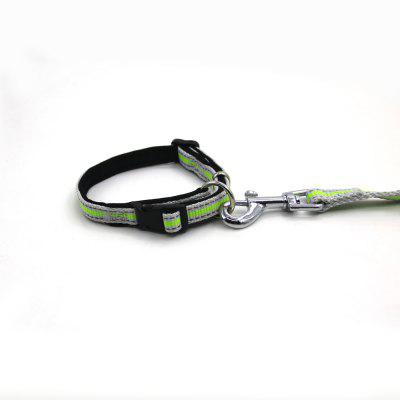 Buy GREEN L Lovoyager LVHA165164 Reflective Fluorescent Pet Dog Adjustable Collar Leash Soft Elastic Leashes For Running Jogging Walking for $10.73 in GearBest store