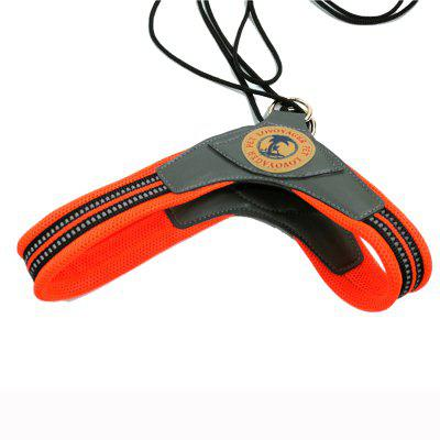 Buy ORANGE L Lovoyager LVH16003 Soft Reflective Pet Dog Harness Dog Walk Collar Leashes Cat Safety Strap Vest for $11.75 in GearBest store