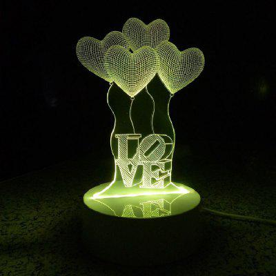 Buy RGB Heart Ballons Night Light Touch 3D LED Table Desk Lamp for $16.11 in GearBest store