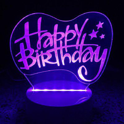 Happy Birthday Night Light Touch 3D LED Table Desk Lamp