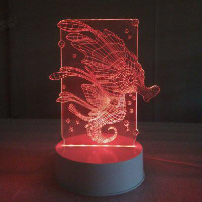Hippocampus Remote Control Acrylicnight Light 3D LED Table Desk Lamp