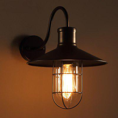 Lanshi D - 8050 Wall Light Metal with Glass Shade