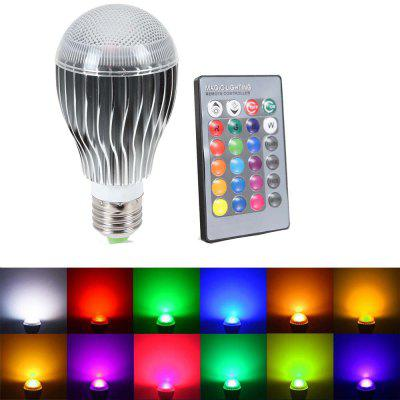 SUPli Bombilla LED 10W AC 85 - 265V RGB Cambio de Color Regulable con Control Remoto