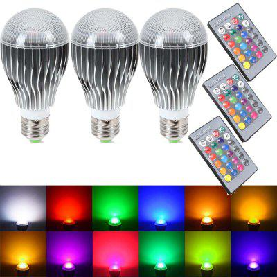 SUPli Bombilla LED 10W RGB Cambio de Color Regulable Luz con Control Remoto