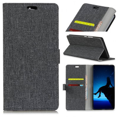 Wkae Retro Jeans Cloth Texture Folio Stand Case with Card Slots for Doogee MIX