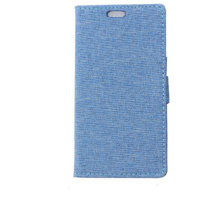Wkae Retro Jeans Custodia in Tessuto con slot per Huawei Enjoy 7 / P9 Lite Mini