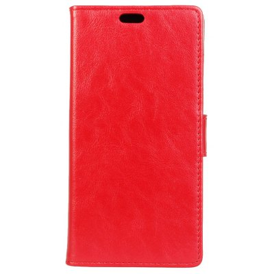 Wkae Crazy Horse Texture Faux Leather Case Horizontal Flip Stand Case with Card Slots for Doogee MIX