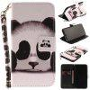 Panda Pattern Wrist Strap Premium Flip Wallet Protective Case Card Slots Pu+Tpu Leather Folio Magnetic Closure Stand Cover for Iphone x - BLACK