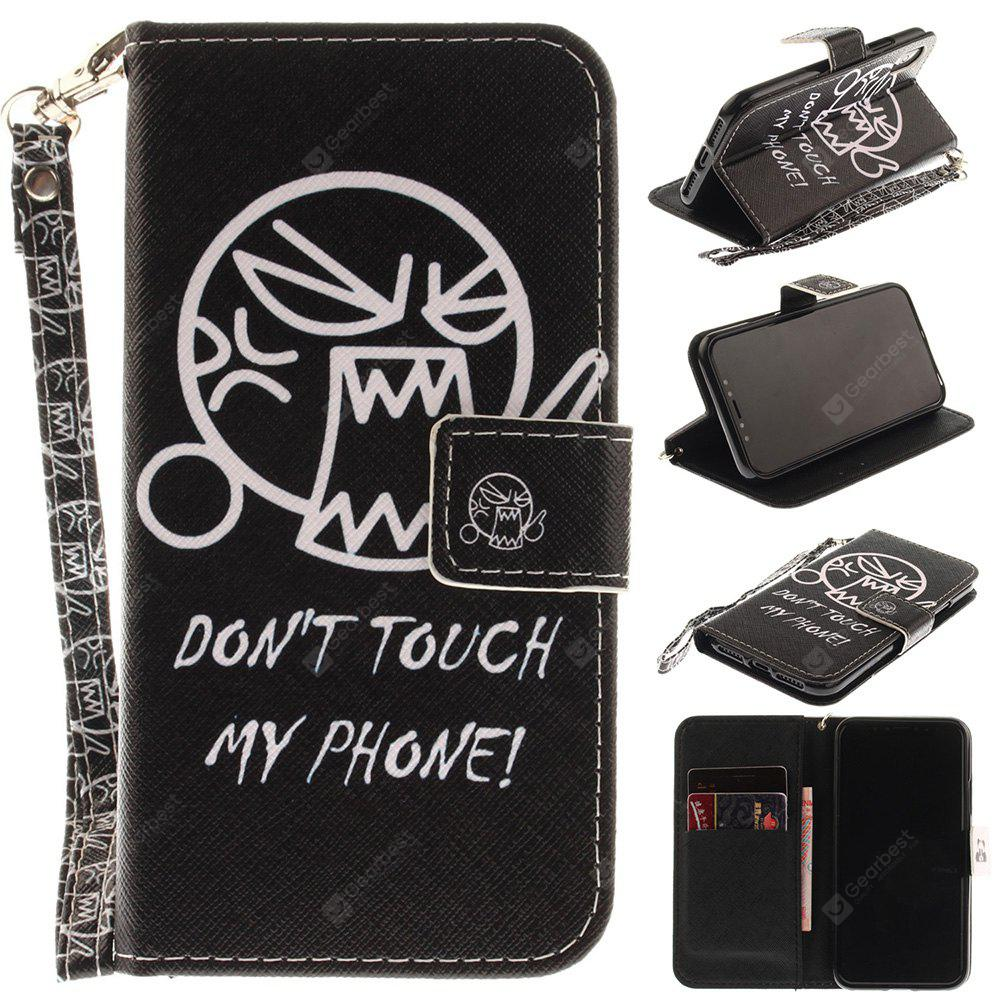 Cartoon Pattern Wrist Strap Premium Flip Wallet Protective Case Card Slots Pu+Tpu Leather Folio Magnetic Closure Stand Cover for Iphone x 5.8 Inch