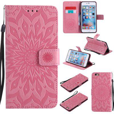 Buy PINK Yanxn Sun Flower Printing Design Pu Leather Flip Wallet Lanyard Protective Case for iPhone 6 Plus/6S Plus for $7.41 in GearBest store