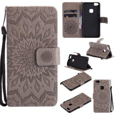 Buy GRAY Yanxn Sun Flower Printing Design Pu Leather Flip Wallet Lanyard Protective Case for Huawei P10 Lite for $6.48 in GearBest store