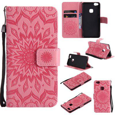 Buy PINK Yanxn Sun Flower Printing Design Pu Leather Flip Wallet Lanyard Protective Case for Huawei P10 Lite for $6.48 in GearBest store