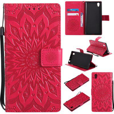 Buy RED Yanxn Sun Flower Printing Design Pu Leather Flip Wallet Lanyard Protective Case for Sony Xperia L1 for $6.48 in GearBest store