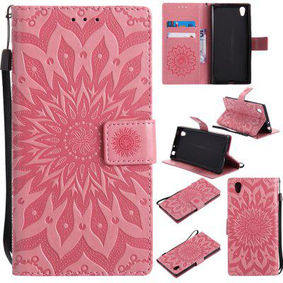 Buy PINK Yanxn Sun Flower Printing Design Pu Leather Flip Wallet Lanyard Protective Case for Sony Xperia L1 for $6.48 in GearBest store