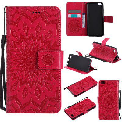 Buy RED Yanxn Sun Flower Printing Design Pu Leather Flip Wallet Lanyard Protective Case for Xiaomi Mi5 for $6.48 in GearBest store