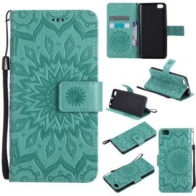 Buy GREEN Yanxn Sun Flower Printing Design Pu Leather Flip Wallet Lanyard Protective Case for Xiaomi Mi5 for $6.48 in GearBest store