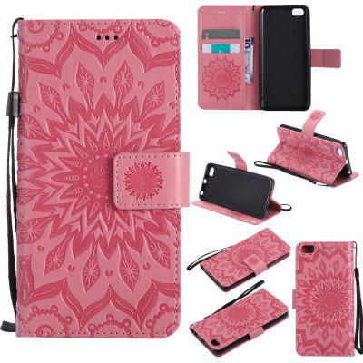 Buy PINK Yanxn Sun Flower Printing Design Pu Leather Flip Wallet Lanyard Protective Case for Xiaomi Mi5 for $6.48 in GearBest store