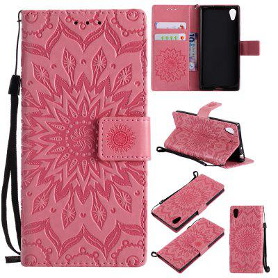 Buy PINK Yanxn Sun Flower Printing Design Pu Leather Flip Wallet Lanyard Protective Case for Sony Xperia XA1 for $6.48 in GearBest store