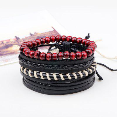 4 Pcs Rope Wax Hand Woven Leather BraceletsBracelets &amp; Bangles<br>4 Pcs Rope Wax Hand Woven Leather Bracelets<br><br>Closure Type: Lace-Up<br>Diameter of Bangle: 6CM<br>Gender: For Men<br>Item Type: Charm Bracelets<br>Length of Chain: 20CM<br>Necklace Type: Rope Chain<br>Package Contents: 4 X Bangles<br>Package weight: 0.0500 kg<br>Shape/Pattern: Round<br>Style: Vintage