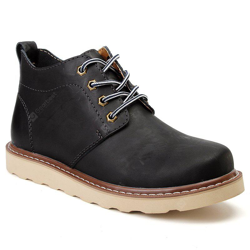Outdoor Leisure Boots Fat Boots Thick Soled Shoes Outdoor Hiking Shoes Leather Boot
