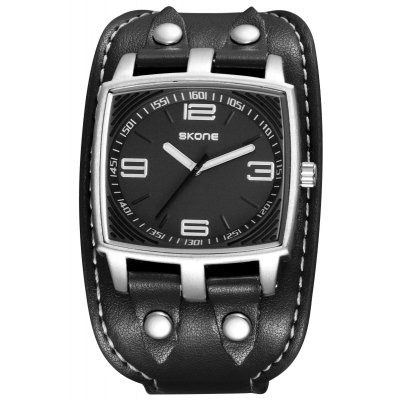 Skone 9446G 3840 Mode PU Band Herrenuhr