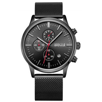 Buy BLACK 1611 4304 Multifunctional Calendar Dispaly Male Watch for $24.99 in GearBest store