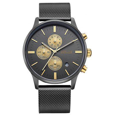 Buy BLACK + GOLDEN 1611 4304 Multifunctional Calendar Dispaly Male Watch for $22.19 in GearBest store