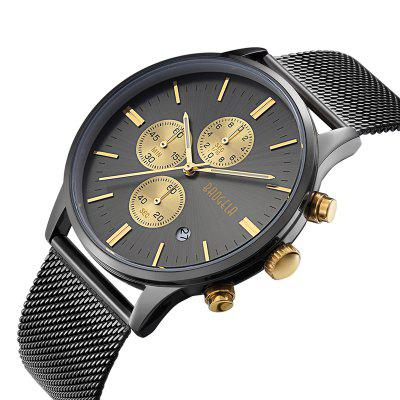 1611 4304 Multifunctional Calendar Dispaly Male WatchMens Watches<br>1611 4304 Multifunctional Calendar Dispaly Male Watch<br><br>Band material: Fine steel<br>Band size: 25 x 2.2cm<br>Case material: Alloy<br>Clasp type: Hook buckle<br>Dial size: 4.25 x 4.25 x 1cm<br>Movement type: Quartz watch<br>Package Contents: 1 x Watch, 1 x Watch Box<br>Package size (L x W x H): 28.00 x 8.00 x 3.50 cm / 11.02 x 3.15 x 1.38 inches<br>Package weight: 0.1170 kg<br>Product size (L x W x H): 25.00 x 4.25 x 1.00 cm / 9.84 x 1.67 x 0.39 inches<br>Product weight: 0.0870 kg<br>Shape of the dial: Round<br>Watch mirror: Mineral glass<br>Watch style: Business, Casual, Fashion, Outdoor Sports<br>Watches categories: Men