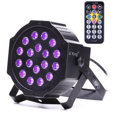 Buy BLACK U`King 18W 18 Led Purple Par Light Stage Effect Lighting with 1 Remote Control for $27.25 in GearBest store