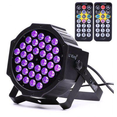 Buy BLACK U`King Zq-B193-Yk2 36W 36PCS Purple Led Par Light Stage Effect Lighting with 2 Remote Control for $31.17 in GearBest store