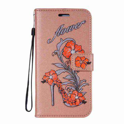 Buy MARIGOLD Flash Powder Dyed Silk Printed Rattan High Heels Pu Phone Case for Samsung Galaxy J3 2016 / 2015 for $7.02 in GearBest store