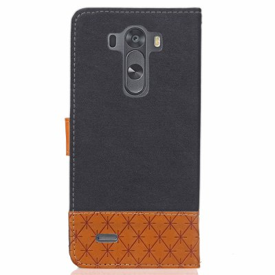 Jeans Texture Pattern Stitching PU Leather Wallet Case for LG G3Cases &amp; Leather<br>Jeans Texture Pattern Stitching PU Leather Wallet Case for LG G3<br><br>Compatible Model: LG G3<br>Features: Cases with Stand, With Credit Card Holder, With Lanyard<br>Mainly Compatible with: LG<br>Package Contents: 1 x Phone Case<br>Package size (L x W x H): 18.00 x 11.00 x 3.00 cm / 7.09 x 4.33 x 1.18 inches<br>Package weight: 0.1500 kg<br>Product weight: 0.1000 kg<br>Style: Mixed Color
